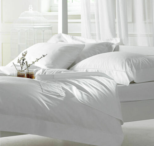 1500 THREAD COUNT EGYPTIAN COTTON PREMIUM BED SHEET SET WHITE SOLID ALL SIZES