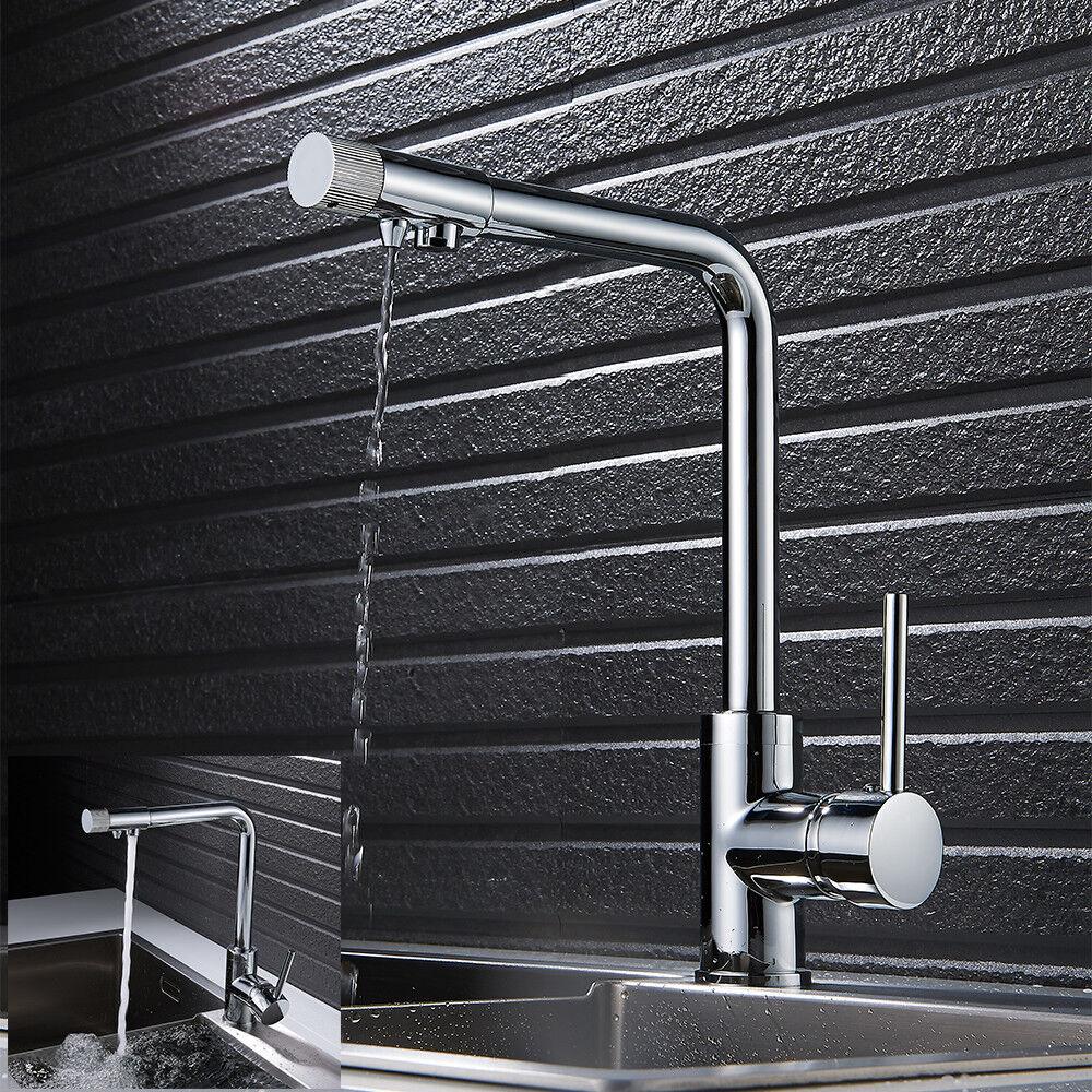 3 in 1 Küche Wasserfilter Armatur Drei-Wege Wasserhahn Osmose Anlage