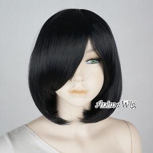 30cm-Short-Wavy-Black-Anime-Women-Cosplay-Heat-Resistant-Full-Wig