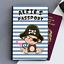 Personalised custom pirate Cheeky Monkey ID Porte-passeport cover