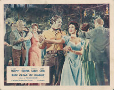 Ride Clear Of Diablo Original Lobby Card Audie Murphy Susan Cabot dancing