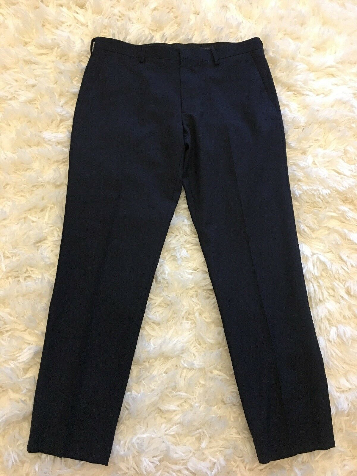 New J Crew Factory Slim-fit Thompson Suit Pant  Voyager Wool Navy Sz 34 30 G6754