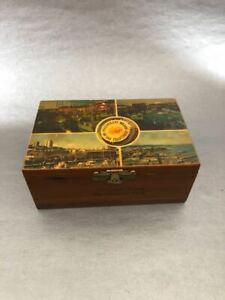 Vtg-Wood-Trinket-Jewelry-Lobster-Box-Fishing-Boats-Whorf-San-Francisco-Ca-USA