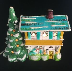 image is loading handmade ceramic christmas village house w light holiday