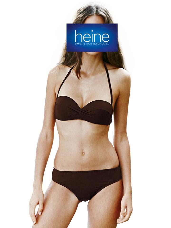 Cup C Heine NEU!! KP 79,90 € /%SALE/% Bandeau-Softcup-Bikini weiß