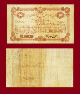 Reproduction Fiji 10 dollars 1872 UNC