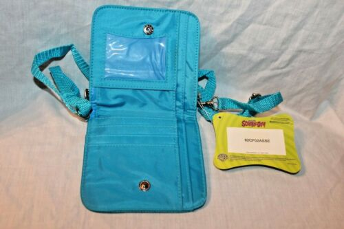 NEW IN PACKAGE 2003 CARTOON NETWORK SCOOBY DOO COIN BAG BLUE  STRAP WALLET