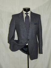 "Men's Vintage 1980's Yves Saint Laurent ""YSL"" Blue & Gray Bone coat jacket 40 L"