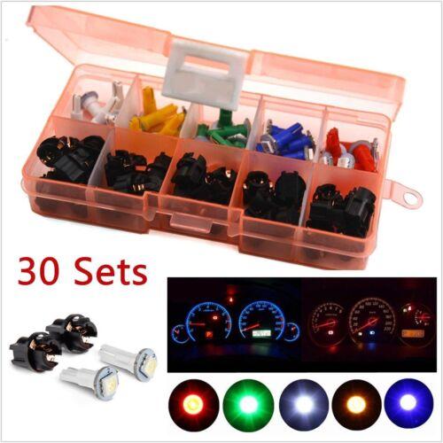 30x T5 Car LED Twist Socket Instrument Panel Gauge Cluster Plug Dash Light Bulbs