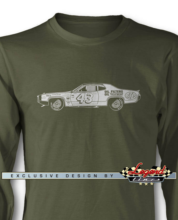 1972 Plymouth Road Runner Richard Petty Long Sleeves T-Shirt - Multi Col & Sizes