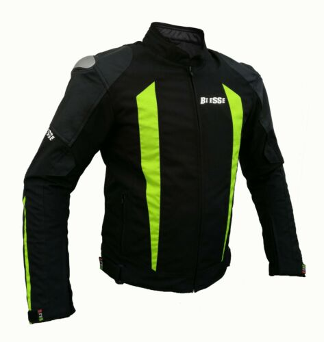 Giacca Sport Touring Tessuto Moto Cordura CE Protezioni Sfoderabile Nero Flu