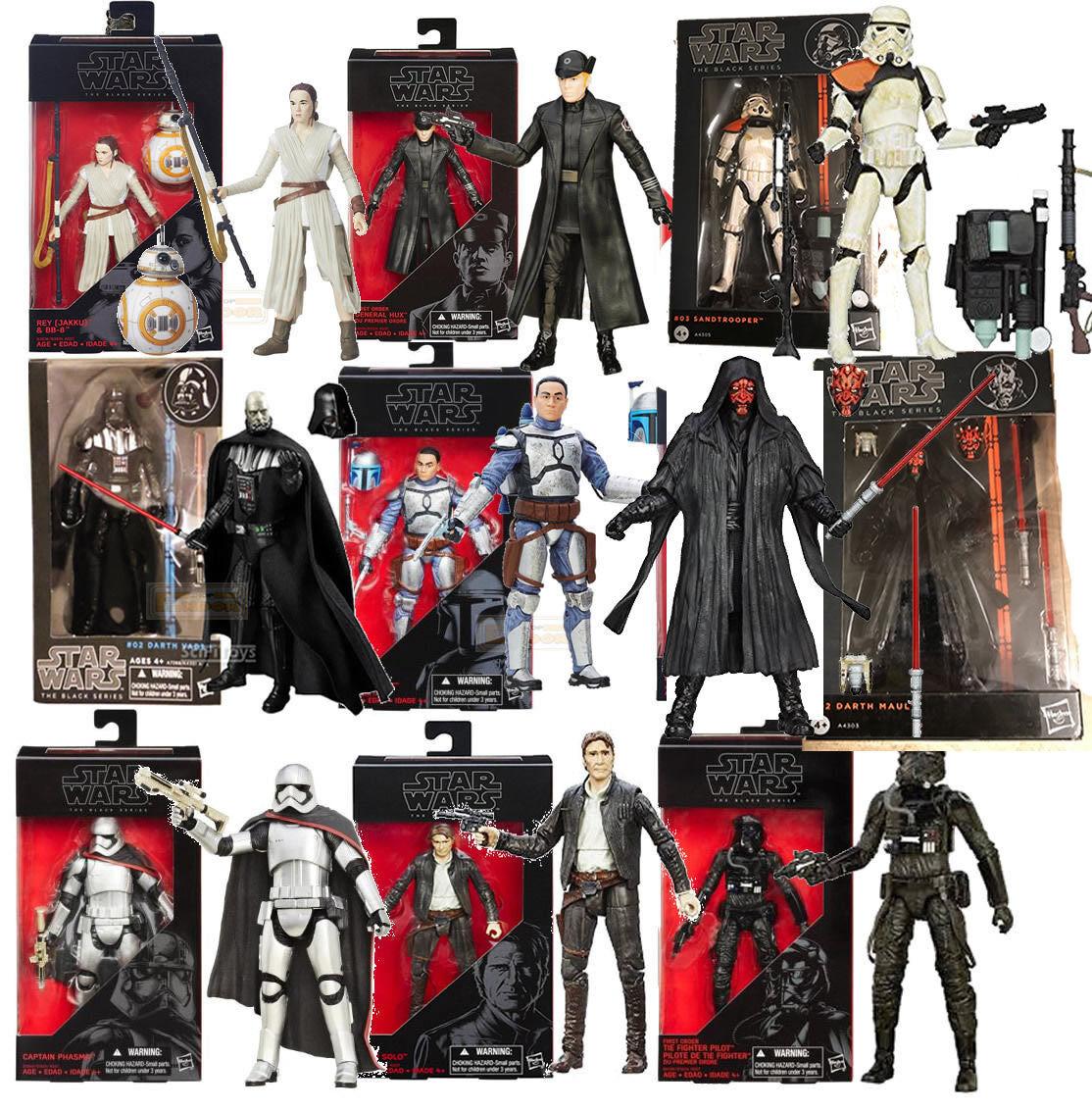 Figura Star Wars schwarz series Darth Vader BB-8 Rey Hux sandtrooper Darth Maul