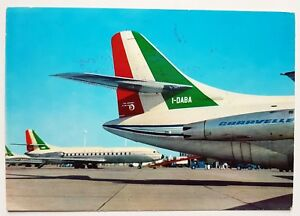 Alitalia-Airlines-Caravelle-Postcard-airline-issue