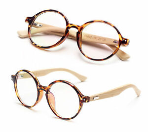 ea2a5312b70 Image is loading Agstum-Handmade-Bamboo-Vintage-Round-Glasses-Frame-Optical-