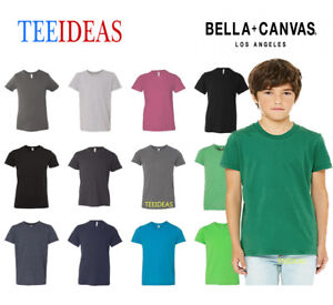 a3d148c4 Image is loading Bella-Canvas-Youth-Jersey-Short-Sleeve-T-Shirt-