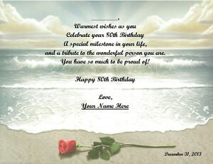 80th Birthday Gift,  Personalized Poem Gift  #8