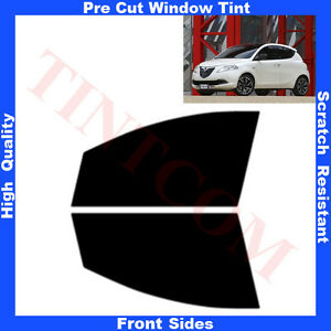 Pre-Cut-Window-Tint-Lancia-Ypsilon-Hatchback-5D-2011-Front-Sides-Any-Shade