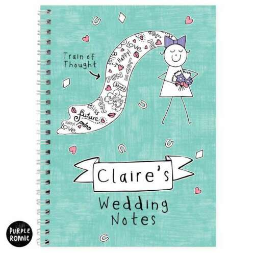 PERSONALISED BRIDE TO BE GIFT IDEA Wedding Diary Planner Book Engagement Present