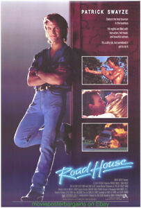 ROAD HOUSE MOVIE POSTER Original 27x40 Rolled One Sheet PATRICK SWAYZE 1989