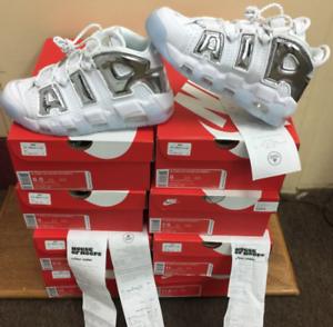 Nike Air More Uptempo WMNS Whit- Chrome Blue Tint 917593-100 ... 442cd3a2ce