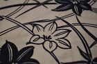 Japanese Cotton Fabric White with Blue Floral Design 1303