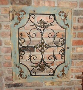 Image Is Loading Rustic Wood Frame Window Metal Wall Decor Cottage