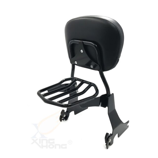 Low Sissy Bar Backrest /& Luggage Rack For Compatible with Harley Sportster XL 883 1200 2004-2017 NBX