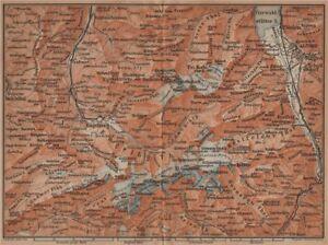 Uri/urner Alps Titlis Blackenstock Sarnen Altorf 1901 Map In Pain Cheap Sale Engelberg Environs Art Prints Antiques
