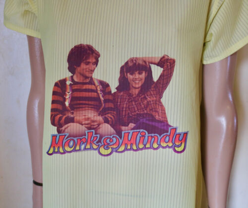 Mork & Mindy show vintage 70's lounging night gow… - image 1