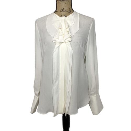 Alexander McQueen Silk Blouse 40 S M Ivory White R