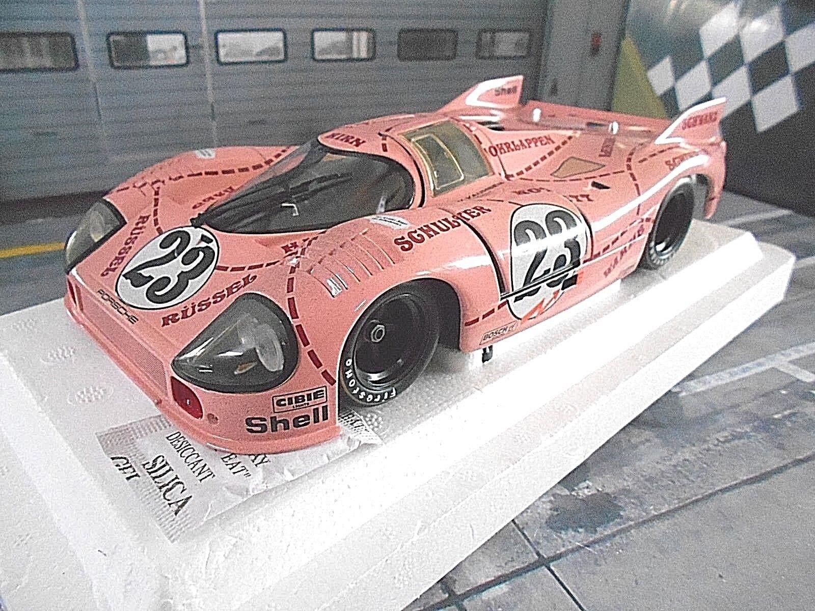 PORSCHE 917 20 917 rosa PIG Le Mans  23 Kauhsen Joest 1971 Dirty Minichamps 1 18