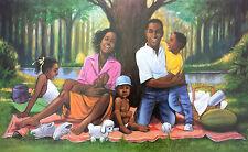 "African American Art  ""Family"" Black Family Print by Henry C. Porter"