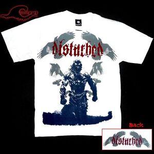 Disturbed-Raven-White-Band-T-Shirt