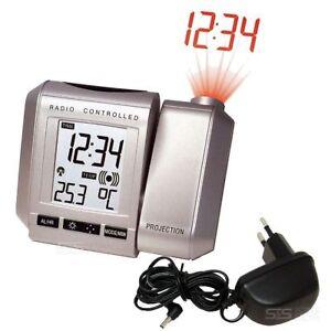 Technoline-WT-535-Dauer-Projektionswecker-Funk-Uhr-Wecker-Thermometer-Netzteil
