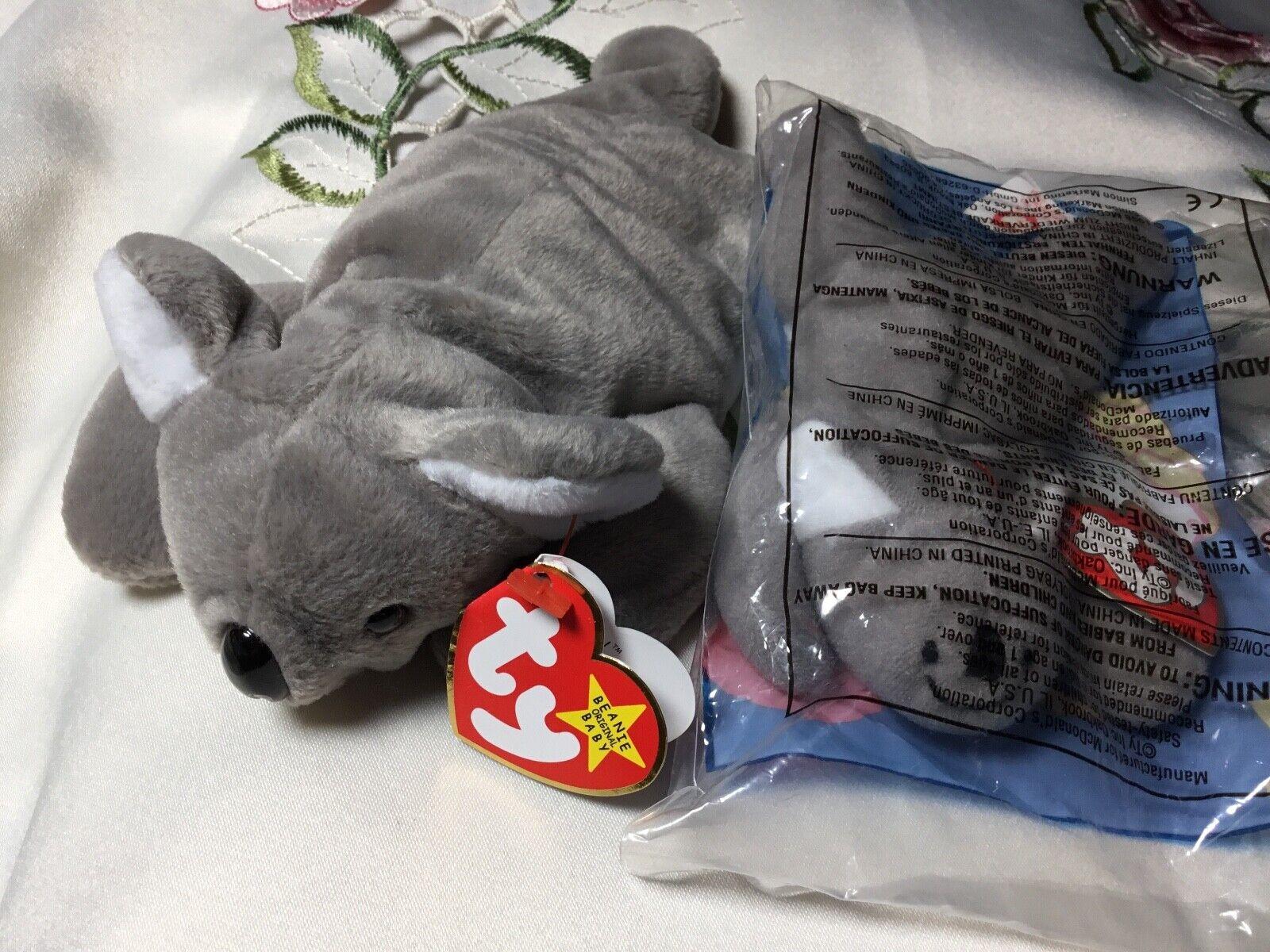 RARE Ty Beanie Baby MEL the koala w ERRORS and Teenie beanie MINT