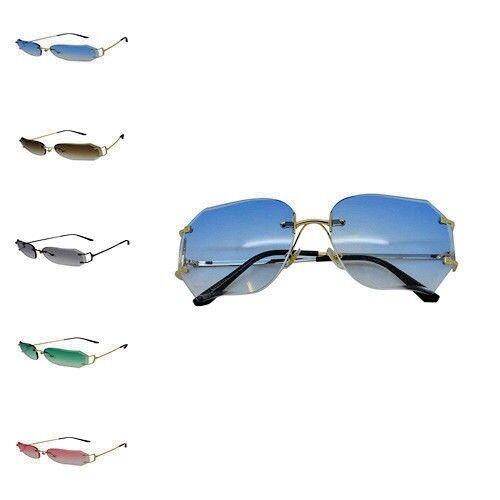 2f44e9492f gold green Sized Rimless blue Square Women Ladies gold black Case  sunglasses Over Sunglasses Trendy Retro ...