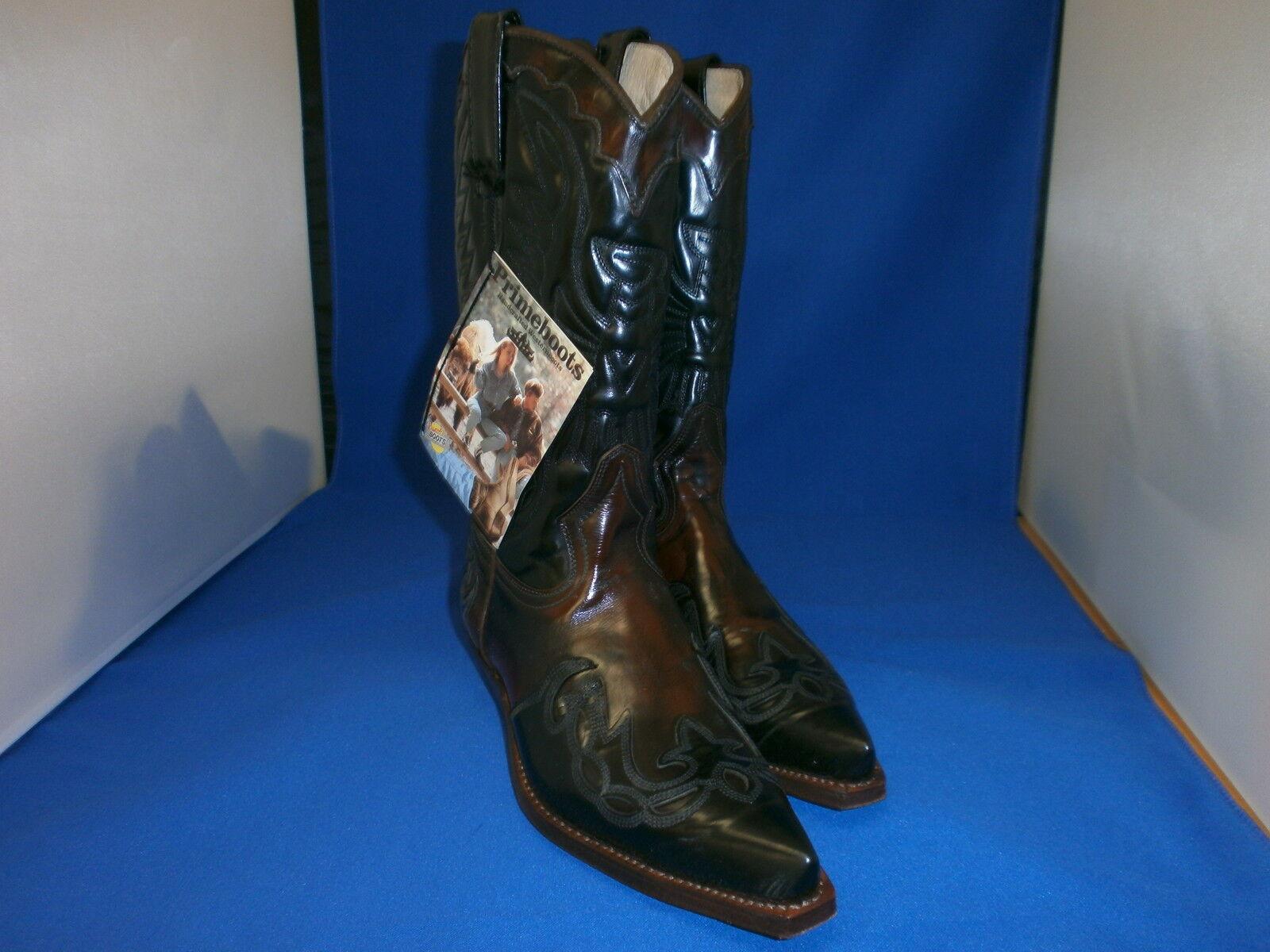Prime Stiefel  cowboystiefel westernstiefel neu leder handmade  gr. 38