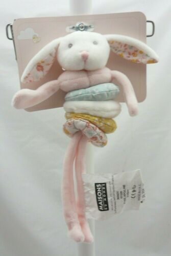 Maison du Monde jeu d/'éveil Appoline lapin tissu velours vibreur 23 cm environ