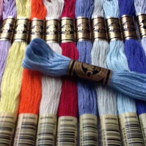 1-35 DMC CROSS STITCH SKEINS-THREADS PICK YOUR OWN COLOURS FREE PP