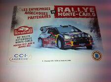 CP POSTCARD CARTOLINA CITROEN DS3 WRC LOEB RALLY MONTE CARLO RALLYE WRC 2012