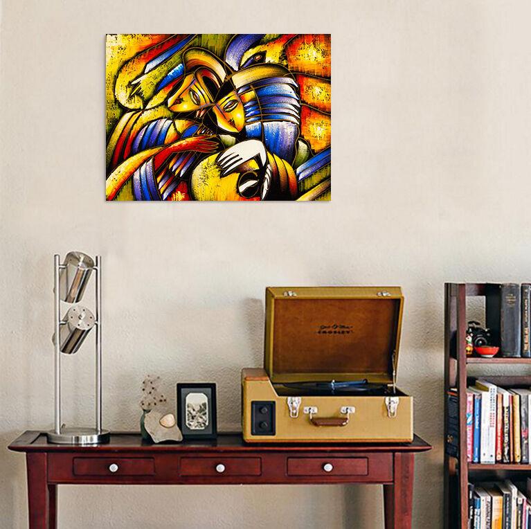 3D Farbige Kunstwerk 355 Fototapeten Wandbild BildTapete Familie AJSTORE DE