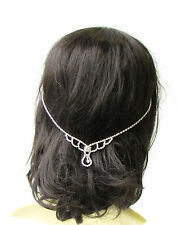 Silver Bridal Headpiece Hair Vine Headband Diamante Rhinestone Art Deco Vtg 1844