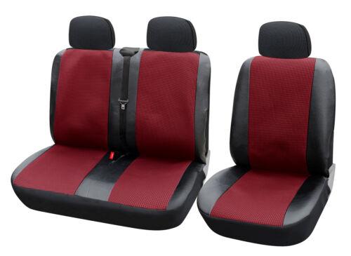 Sitzbezüge 1+2 Schonbezüge für Renault ohne Seitenairbag Rot//Schwarz AS7324