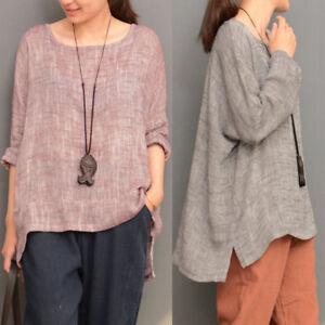 Newest-ZANZEA-Women-Casual-Round-Neck-Loose-Long-Sleeve-Tops-Shirt-Blouse-Plus