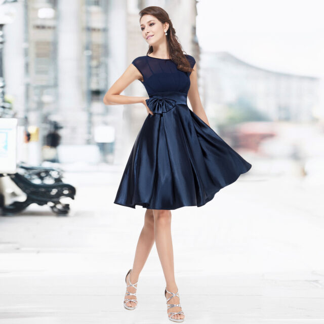 Ladies Short Prom Party Gown Bridesmaid Daily Simple Dresses 06113 6 8 10 12 14+