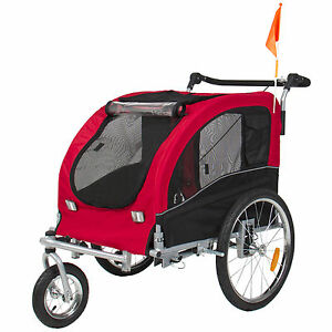 2 In 1 Pet Dog Bike Trailer Bicycle Trailer Stroller
