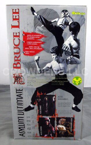 """dans sa boîte Bruce Lee Art Asylum Ultimate Series 17/"""" action figure 2 Authentic cosutmes En parfait état"""