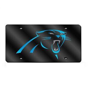 Carolina-Panthers-Black-Mirrored-Laser-Cut-License-Plate-Laser-Tag