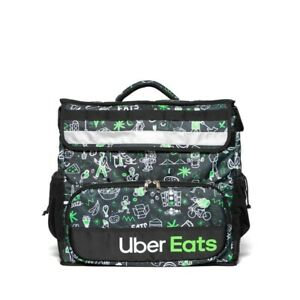 IN HAND Uber Eats Delivery Insulated Backpack Artist Series Bag Sophia