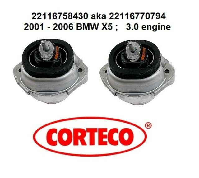 OEM Quality L /& R Engine Mount 2PCS Set for 2001-2006 BMW E53 X5 3.0i Hydraulic!